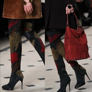 Burberry Prorsum Allison Over-the-knee Suede Boots